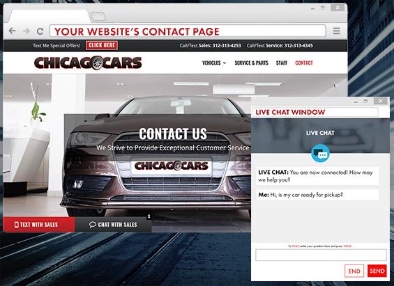 LIVEchat text message website widget