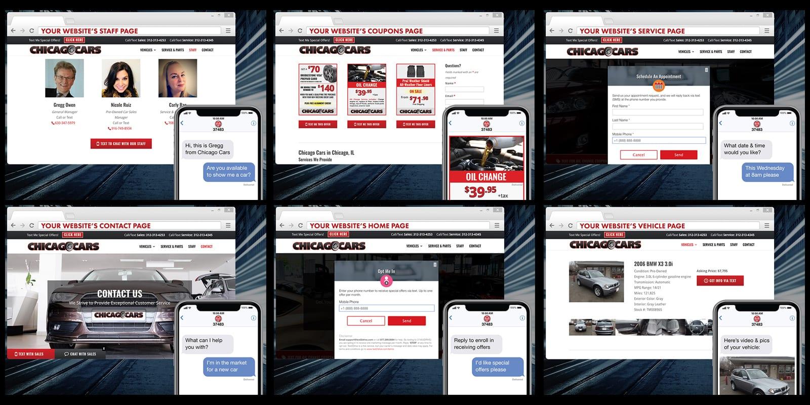 Customer-to-Dealer Website Widgets