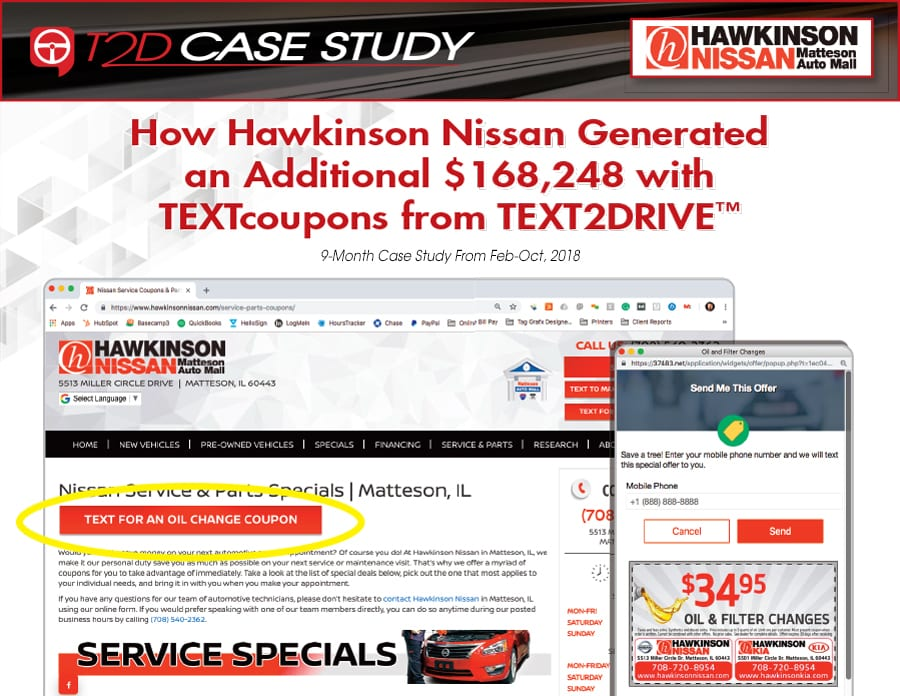 Hawkinson Nissan Text Coupons Case Study