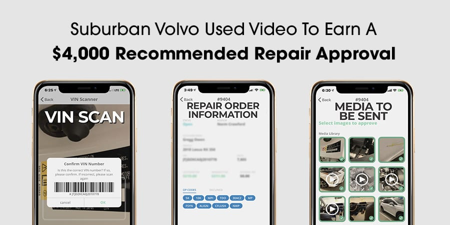 Suburban Volvo Used Video To Earn A $4000 Recommended Repair Approval