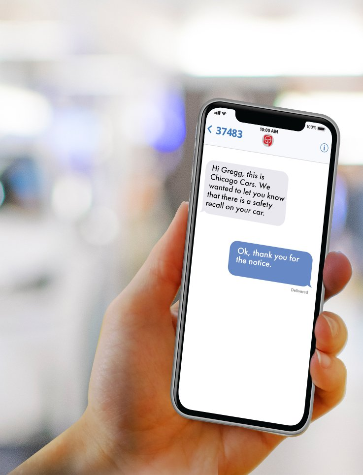 text message vehicle safety recall alerts still generate service revenue during Coronavirus because it's free to customers