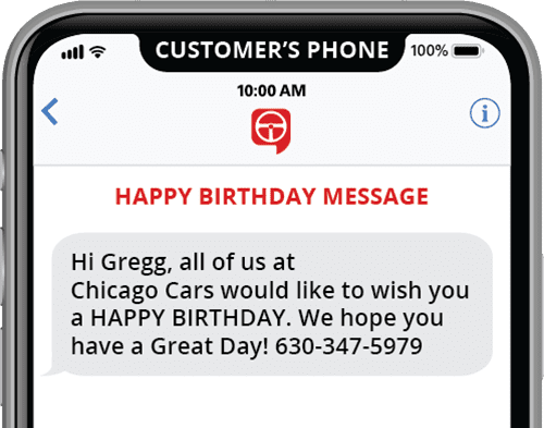 automated happy birthday message text template