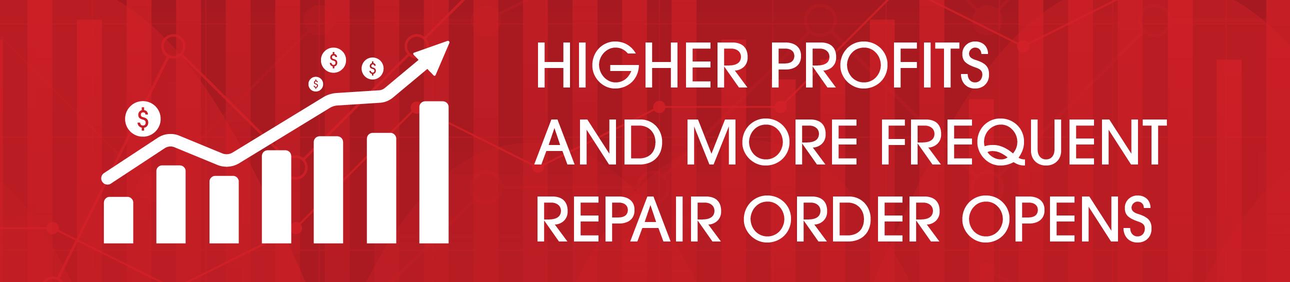 des profits plus élevés une commande de réparation plus fréquente s'ouvre