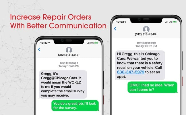 increase repair orders with better communication