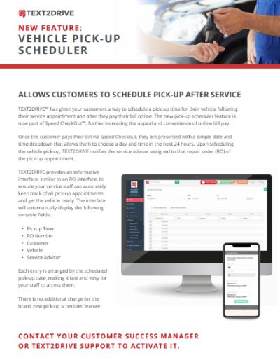 vehicle pickup scheduler document