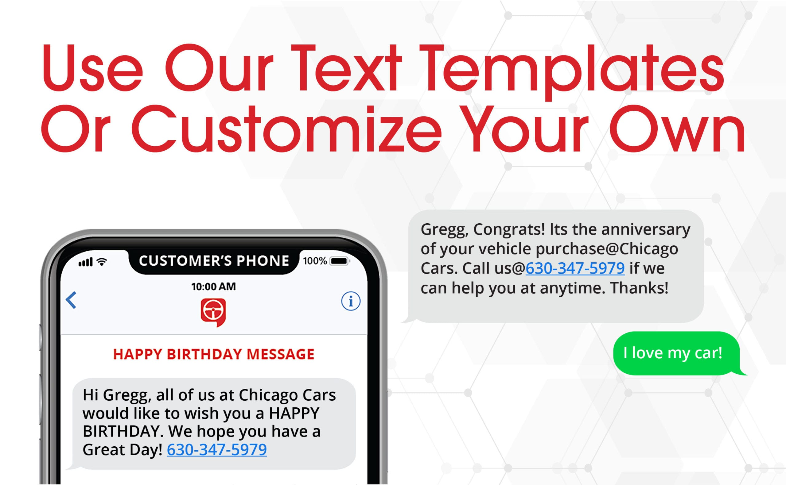 text message templates tailored for car sales