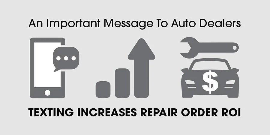 envoyer des SMS augmente le retour sur investissement de la commande de réparation