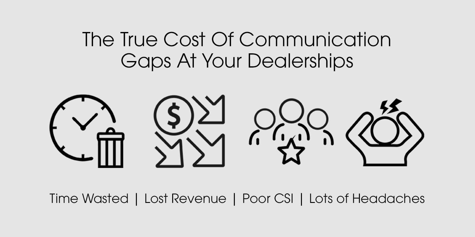 el verdadero costo de las brechas de comunicación en su concesionario