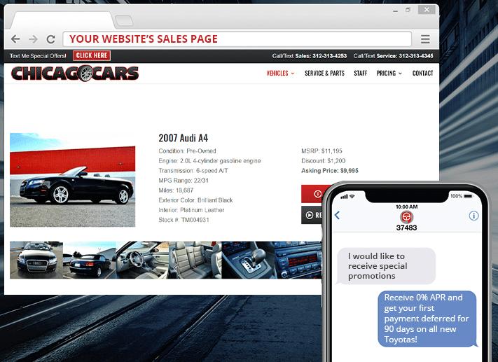 TEXTmarketing envía a los clientes ofertas especiales y cupones por mensaje de texto desde su sitio web